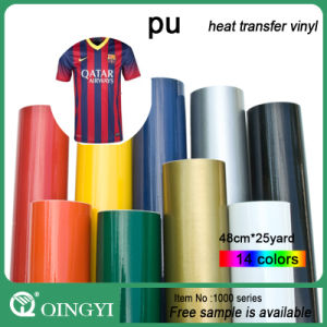 Qingyi Magical PU Heat Transfer Vinyl for Textile Bag pictures & photos