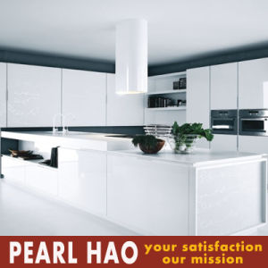 Modern High Gloss White Lacquer Kitchen Cabinet pictures & photos