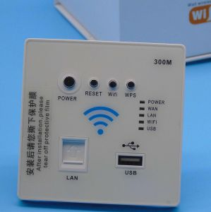 Original New Wall-in Panel WiFi Wireless Router with 300Mbps pictures & photos