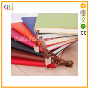 PU Leather Hard Cover Notebook with Book Mark pictures & photos