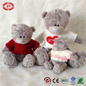 Patches Scarf Knitted Plush Grey Soft Lovely Toy Teddy Bear pictures & photos