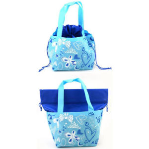 Cheap Cotton Bread Basket and Bread Bag with Drawstring Rope pictures & photos