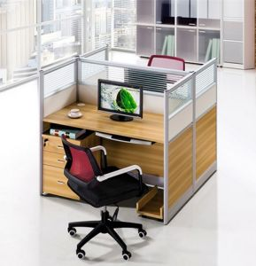 2 Seats Straight Desk Workstation Cluster Staff Office Partition (HX-NCD142) pictures & photos