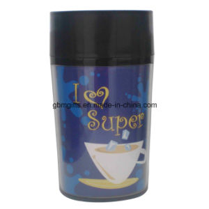 Travel Mug, 400ml, Made of PP + PS+ Stainless Steel, Customized Logos Welcomed