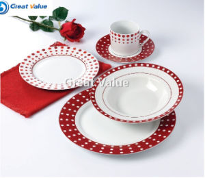 Simple Design with Custom Logo Porcelain Tableware Plate for Home Use pictures & photos