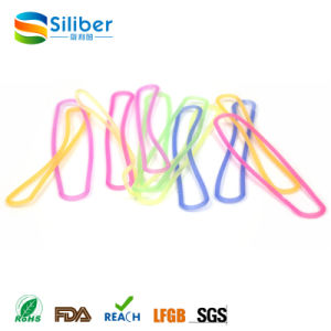 Rainbow Color Rubber Bands/Silicone Thin Elastic Rubber Bands pictures & photos