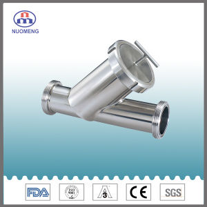 Sanitary Stainless Steel Threaded Y Type Strainer (DIN-No. NM100509) pictures & photos