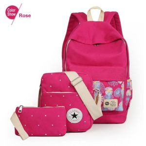 Women School Bags for Teenage Girls Canvas (BDMC033) pictures & photos