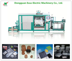 Transparent Plastic Packaging/Transport Box Vacuum Thermoforming Machine