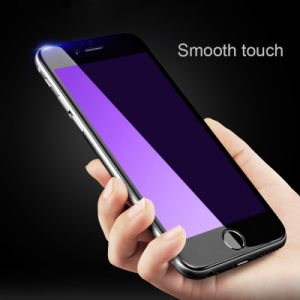 Edge Enhancement Silk Print Tempered Glass Protector for iPhone 6/6plus Anti-Blue Film pictures & photos