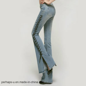 2017 New Arrive Women Fashion Jeans Bell-Bottomed Pants pictures & photos