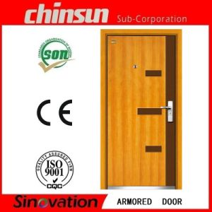 High Quality Low Price Steel Wooden Armored Door pictures & photos