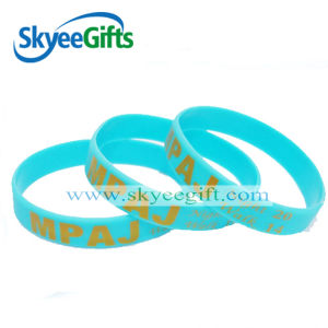 The Newest Fashion Customized Printing Glow in The Dark Silicone Bracelet for Promotional Gift pictures & photos