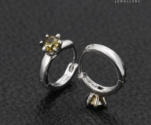 92420 Fashion Charm Single Stone Zircon Jewelry Earring Huggie pictures & photos
