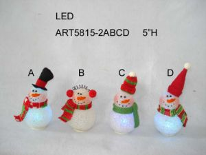 Santa and Snowman Christmas Gift Treat Container, 3 Asst pictures & photos