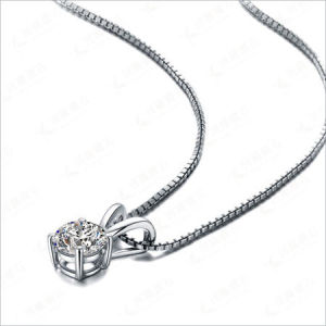 Sterling Silver Prong Setting Atificial Diamond Fashion Necklace Jewellry pictures & photos