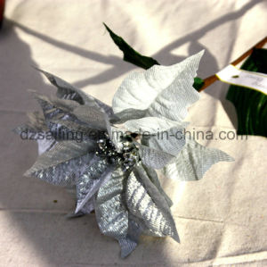 Big Artificial Poinsettia Flower for Christmas Home Decoration (SF15962) pictures & photos