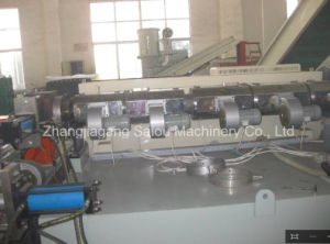 Force Feeder HDPE Flakes Pelletizing Machine pictures & photos