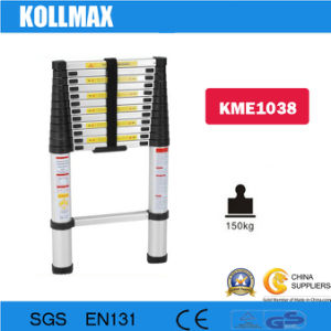 3.8m Telescopic Aluminum Ladder with Stabilizer Bars (KME1038) pictures & photos