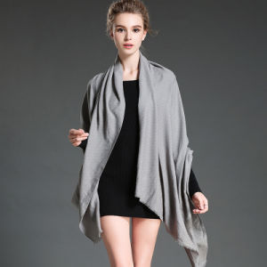 Women in Winter to Keep Warm Plain Grey Polyester Scarf Shawl