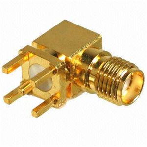 SMA Female Right Angle PC Board Jack RF Connector