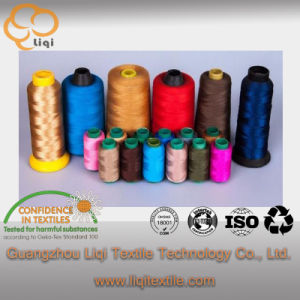 100% Polyester Core-Spun Textile Sewing Fabric Thread Customized Color Accept pictures & photos
