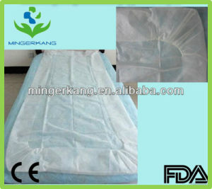 Disposable Fitted PP Non Woven Bed Sheets pictures & photos