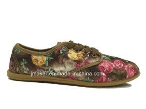 Chinese Style Printed Women Footwear Sneaker (H624-L)