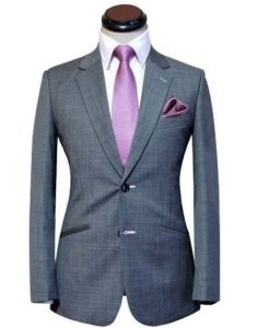 Men′s Gray Slim Fit Wool Suits pictures & photos