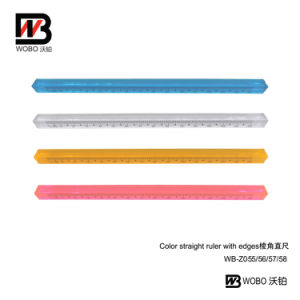 Color Office Stationery Triangle Plastic Ruler 2016 New Style