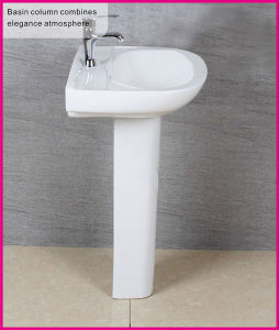 Whole Sale Pottery Standing Floor Stand Single Hole Hair Wash Pedestal Basin pictures & photos
