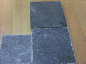 Cheap Blue Limestone for Paving (Antique finish/honed/grooving) pictures & photos