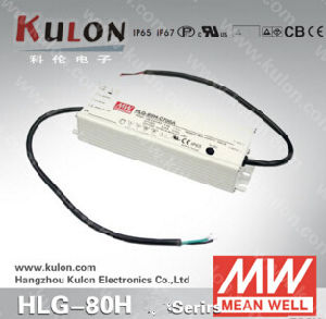 Mean Well LED Driver Hlg-80h 12V 24V 48V 54V IP67 Dimming LED Driver