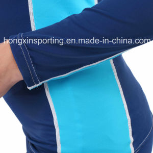 Two-Piece Long Rash Gurad for Swimwear Sports Wear & Surfing Suit pictures & photos