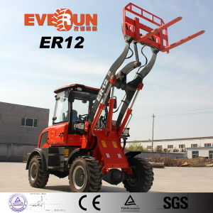 Er12 Agricultural Tool Mini Wheel Loader with Barrel Grab pictures & photos
