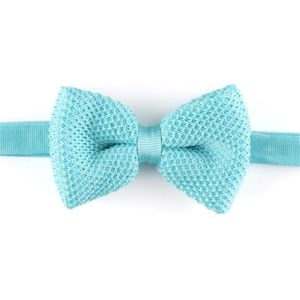 Solid Light Blue Men′s Fashionable Plain Knitted Bow Tie (YWZJ 12) pictures & photos