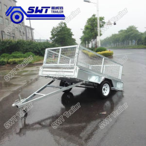 Price Trustworthy Galvanized Box Trailer with Cage (SWT-BT74-L) pictures & photos