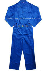 Long Sleeves Navy Polyester Coverall 032 pictures & photos
