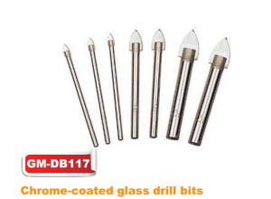 Chrome-Coated Straight Shank Glass Drill (GM-dB117) pictures & photos