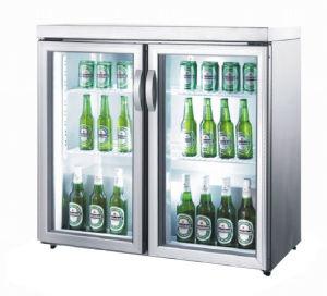 Double Door Desktop Beer Cooler Mini Refrigerator pictures & photos