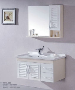 Modern Style Bathroom Vanity Solid Wood Bathroom Cabinet Ads-638) pictures & photos