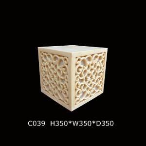 Outdoor Garden Sculpture Resin Sandstone Cube Lantern with Loudspeaker pictures & photos