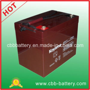 Solar System Lead Acid AGM Motorhome Standby Battery 12V 85ah pictures & photos