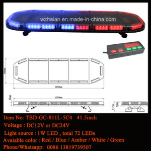 43.5 Inch LED Warning Lightbar in Red and Blue LED with Tir Lens pictures & photos