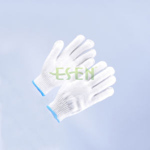 Safety Gloves/Working Gloves/Hand Gloves/Cotton Gloves/Knitted Gloves in Blue Edge pictures & photos