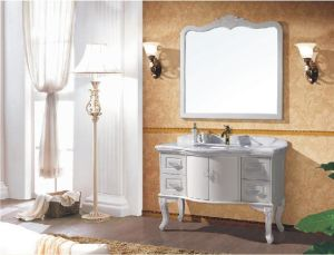 Traditional Rubber Solid Wood Bathroom Cabinet pictures & photos