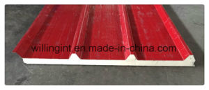 Insulated Polyurethane Sandwich Panel Lowes Cheap Wall Paneling pictures & photos