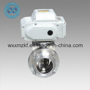 Rotary Airlock Valve, Electrical Quick Install Sanitary Butterfly Valve pictures & photos