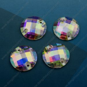14mm 16mm Round Flat Back Sew on Stones with Holes pictures & photos