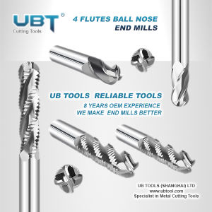 4 Flutes Ball Nose End Mill for Titanium Cutters